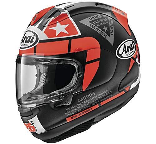 (Arai Helmets Corsair-X Vinales-3 Helmet (Red, Large))