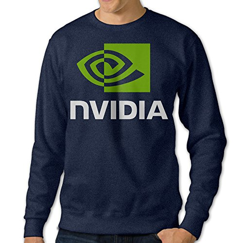Carina NVIDIA LOGO COMPANY Men's Athletic Pullover Hood Navy (Nvidia Drivers)