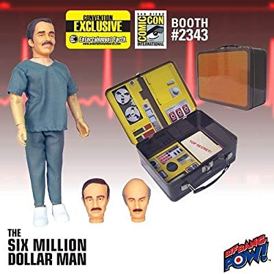 Six Million Dollar Man The Face Of Dr Wells Gift Set Comic Con Exclusive: Toys & Games