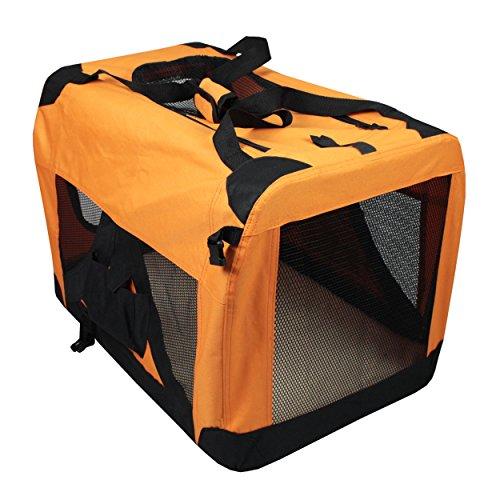 Iconic Pet Versatile Pet Soft Crate with Fleece Mat, Coffee/Khaki, X-Large by Iconic Pet (Image #3)