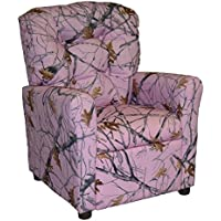 Brazil Furniture 4 Button Back Child Recliner - Snow Camo