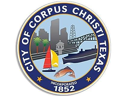 Corpus christi texas city seal sticker decal logo state tx beach lake usa
