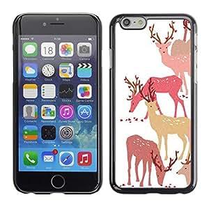 [Neutron-Star] Snap-on Series Teléfono Carcasa Funda Case Caso para Apple (4.7 inches!!!) iPhone 6 / 6S [Ciervo Bosque Art Otoño Paquete Animal]