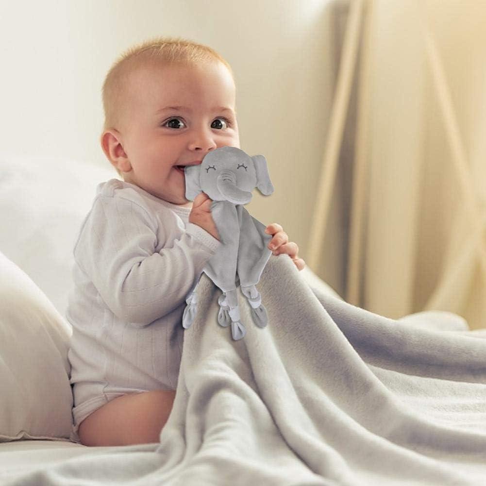 Elefante Conejo Beb/é Manta de Seguridad Peluche Relleno para Reci/én Nacido