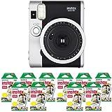 Fujifilm FU64-INSM9K100 INSTAX MINI 90 NEO CLASSIC Camera and Film Kit with 100 Exposures (Black/Silver)