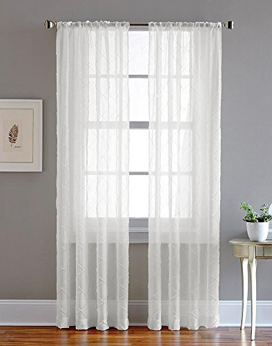 CHF Pintuck Sheer Curtain Panel, 84
