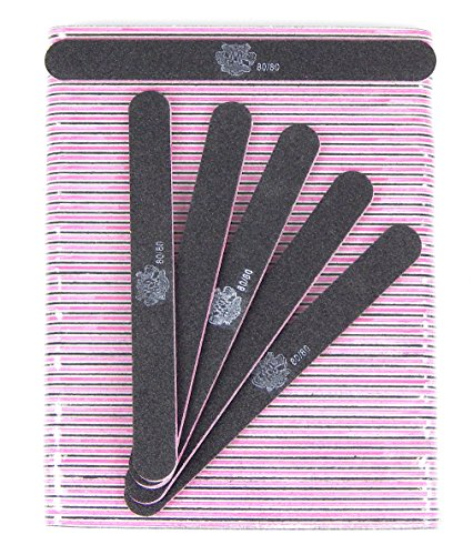 Professional Nail Files Grit 80/80 Pink