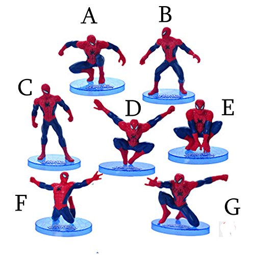 Spider Man Figurine (One (1) Amazing Spiderman Cake Topper Figurine Brand New (Action Pose 7))