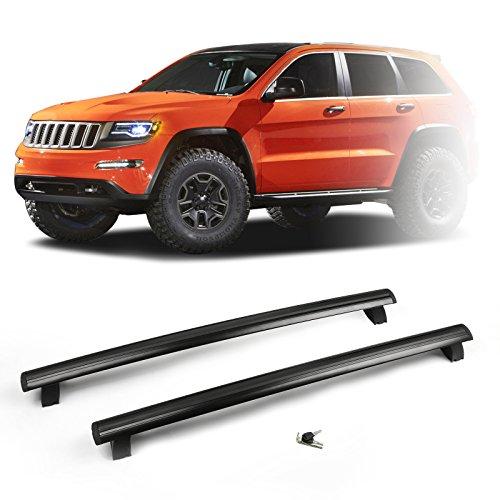 Artudatech Roof Rack Cross Bars for 2011-2018 Jeep Grand Cherokee with Key Locks丨Mopar OEM 55079172AJ & 55079173AJ (Roof 50 Boxes)