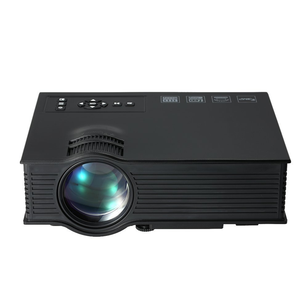 Xinda Projector,2018 Updated 130'' HD Color Image Pro Portable Mini LCD Home Movie Theater Game Video Projector Support 1080P HD Video IP IR USB SD HDMI-Black