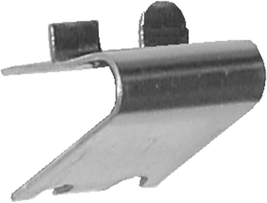 Pack 10 x Soportes Cremallera CON TOPE en Acero Inoxidable AISI-304 (1 mm) | Soporte para Baldas dentro de Armarios Frigorificos o Vitrinas Refrigerada | Ideal Muebles Hostelería