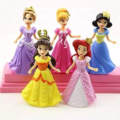 Viki - Liki Princess Action Figure Play Set, Cartoon Favorite Princess Figures, Princess Action Figures, Favorite Moves Princess Set, Birthday Cake Topper (Set of 5)