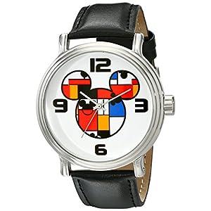 Disney Men's W001834 Mickey Mouse Analog Display Analog Quartz Black Watch