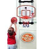Youper Mini Adjustable Portable Basketball Hoop & 2 Balls, Kids Electronic Indoor Basketball Set with Scoreboard (Lights & Sounds)