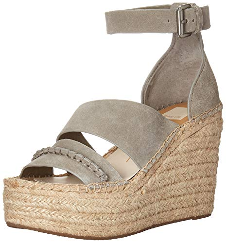 - Dolce Vita Women's SIMI Wedge Sandal, sage Suede, 7.5 M US