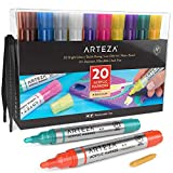 Arteza Acrylic Paint Markers, Set of 20 Assorted
