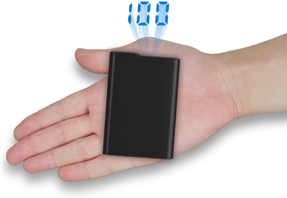 Power Banks 12000mAh Portable Charger Mini External Battery Pack with LCD Digital Display 2 USB Ports Phone Charger for iPhone X 8 7 6s 6 Plus iPad Smartphone Huawei Samsung Galaxy and More (12000)