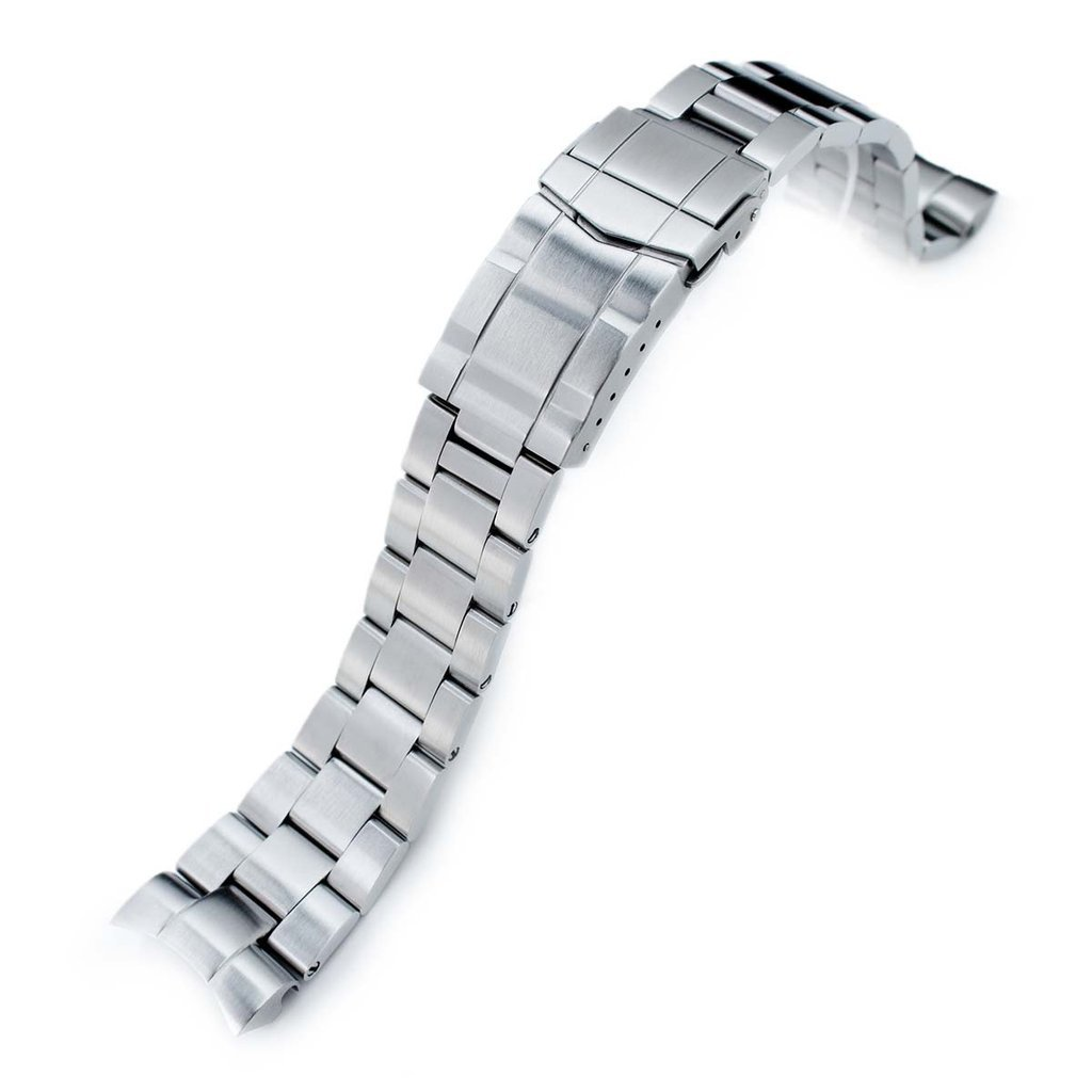22mm Super Oyster 316L Stainless Steel Watch Band for Orient Mako II & Ray II, Submariner Clasp by Orient Replacement by MiLTAT