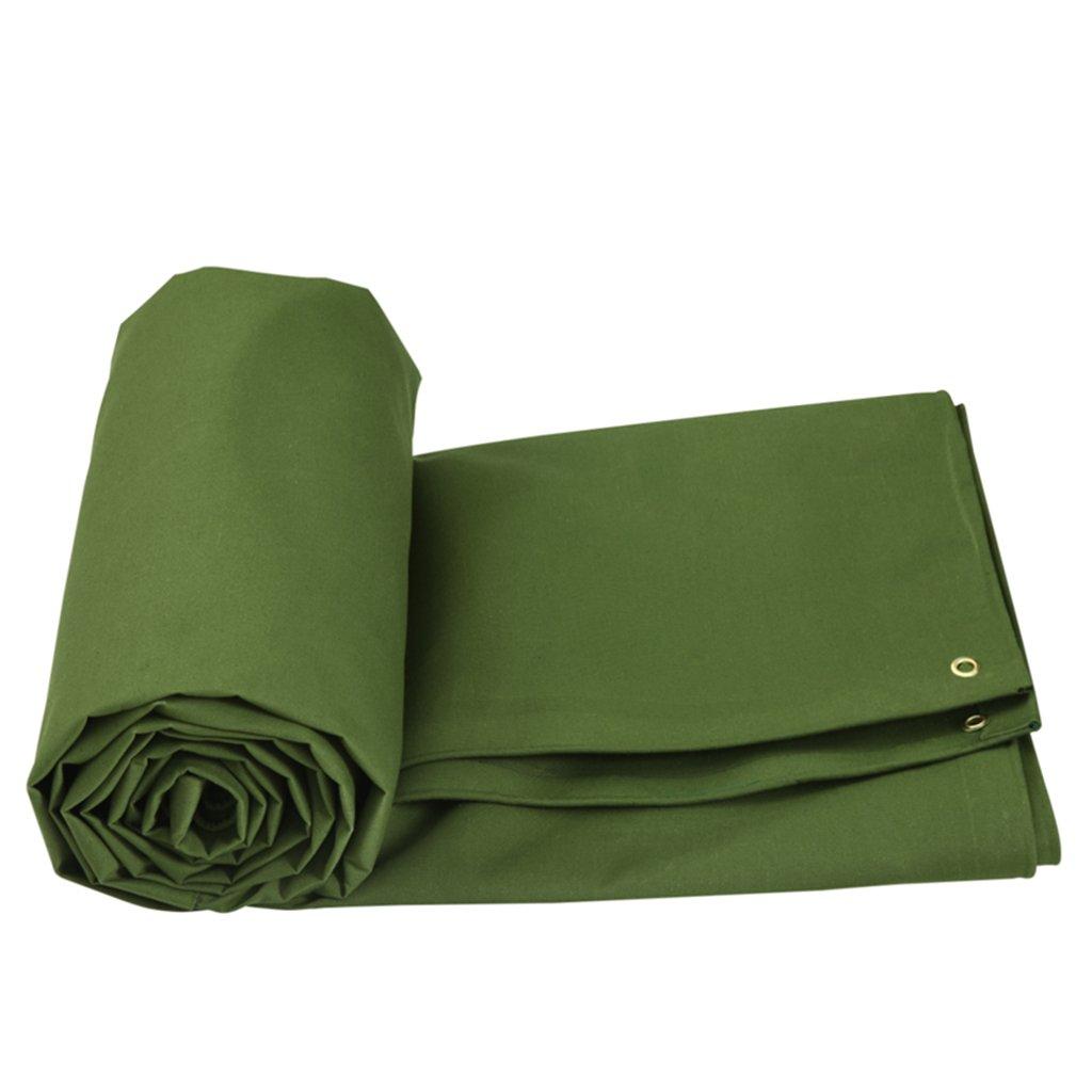 グリーンヘビーデューティターポリン、防水作物キャンバスタープ、防水ルーフタフカバーガーデンレインカバー、グラウンドシートマット、キャンプテント、ピックアップトラックに適しています (色 : Green, サイズ さいず : 3x3m) 3x3m Green B07HL7TDCJ