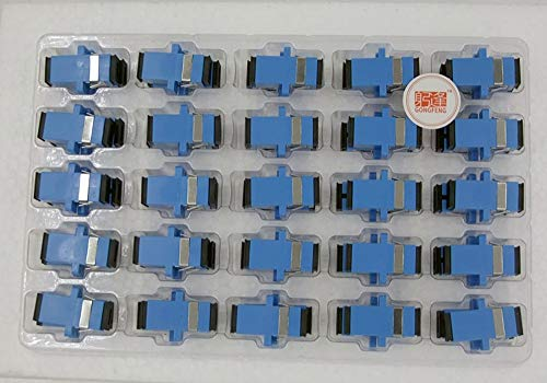 Davitu Connectors - 200pcs New Fiber Optic Connector Adapter SC/UPC SM Flange Singlemode Simplex SC-SC Coupler Wholesale to Russia - (Color: - Sm Singlemode Fiber