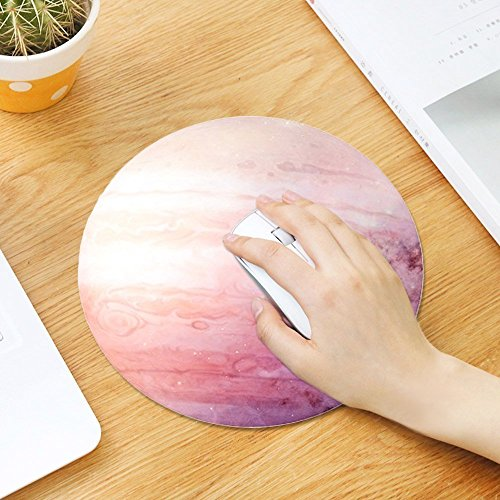 Mouse Pad, LAFEINA Round Non Slip Rubber Mousepad ,Printed Planet Pattern Gaming Mouse Mat (Jupiter)