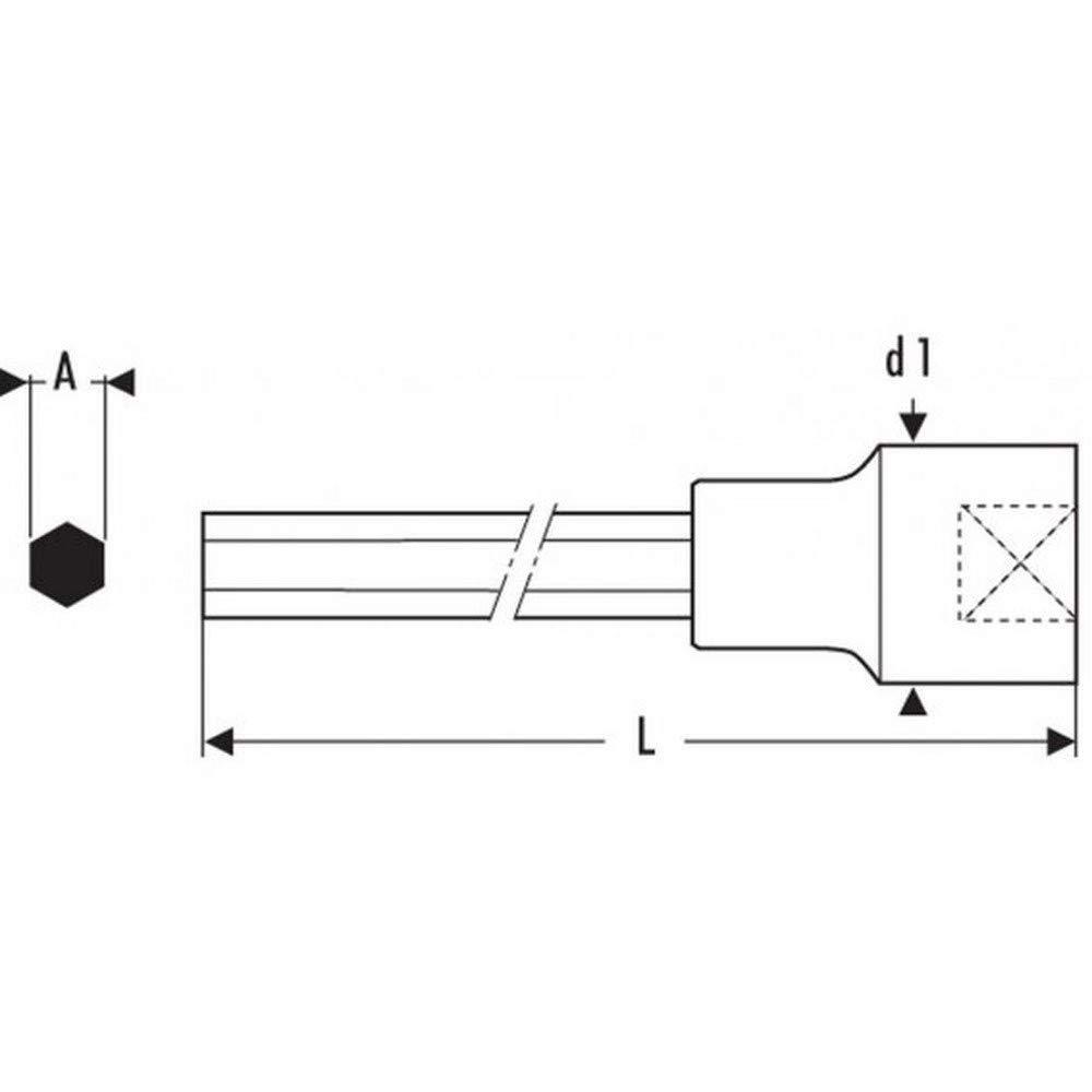 /Bussola cacciavite 1//2/lunghi 6/lati 5/mm Expert e031913/