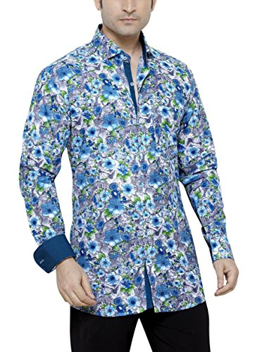 CARLOS DIAZ Herren Regular Fit Freizeithemd