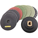 Damo Diamond Tools 4FPP127SETB4SRBH  4-Inch Wet Diamond Polishing Pads Granite Polish/Concrete Polisher