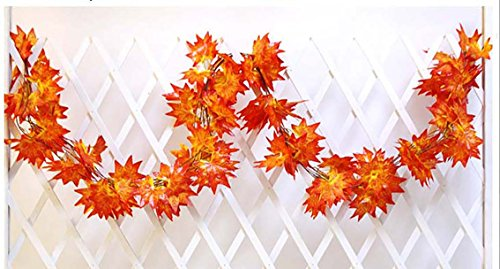 Fall Vine (Artificial Maple Leaf Fake Hanging Vine Plant Leaves Garland Fall Perfect Decoration for Autumn Thanksgiving (12))