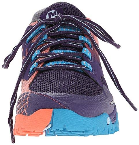 Merrell Womens Tout Dehors Sentier De Course Chaussure De Course Parachute Violet / Corail