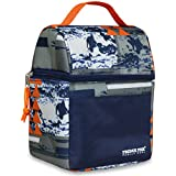 Insulated Lunch Bag with Camouflage or Graphic Design Print for Boys Men or Girls or Women (Graphic Print)