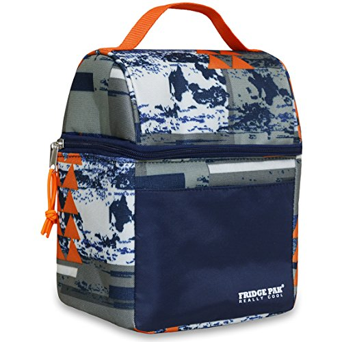 Lunch Pak (Insulated Lunch Bag with Camouflage or Graphic Design Print for Boys Men or Girls or Women (Graphic Print))