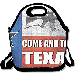 AR-15 Come And Take It Texas Insulated Lunch Bag Picnic Lunch Tote For Work, Picnic, Travelling