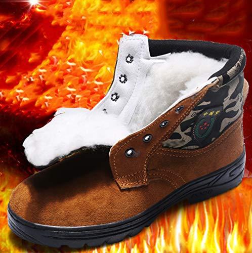 Seguridad Contra Pinchazos Martin Zapatos Cálido Punta 3 De Forro Acero Para Con Rsheng Botas Trabajo Hombres SOqRw76
