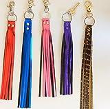 Genuine Leather Fringe Keychain, Leather Key Accessory, purse accessory, handbag charm, purse charm, zipper charm, keychain charm