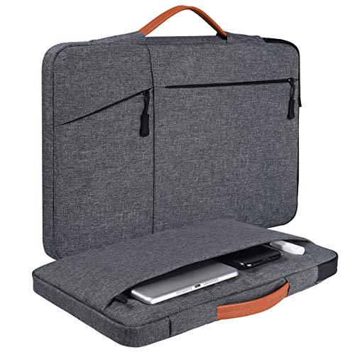 "13.3-13.5 Inch Laptop Briefcase Case for Acer Chromebook R13, Dell Inspiron 13 5000, LG Gram/Asus ZenBook, HP Pavilion 13.3"" /HP Envy x360 13 Briefcase Tablet Case Bag(Space Grey)"
