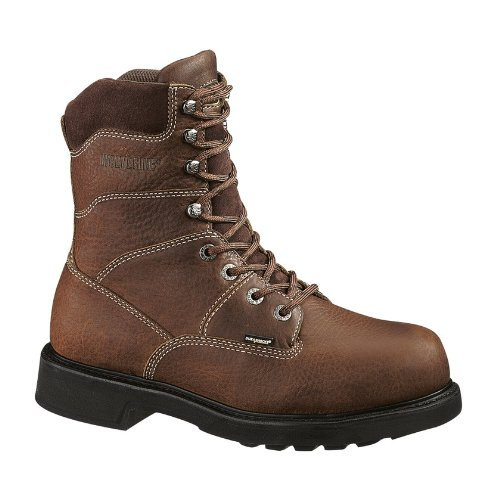 Wolverine Men's Tremor 8 Inch Durashock Work Boot,Brown,12 XW US