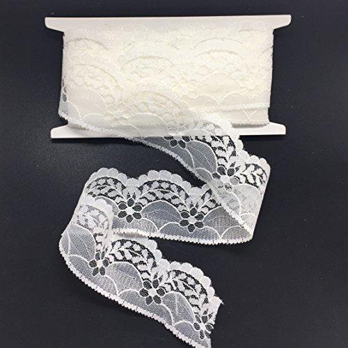 (ELLA MAMA Lace Trim DIY Craft Ribbon Scalloped Edge1-1/2