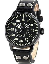 Laco Bielefeld Type B Dial Miyota Automatic Watch, Black Ion Case 861760