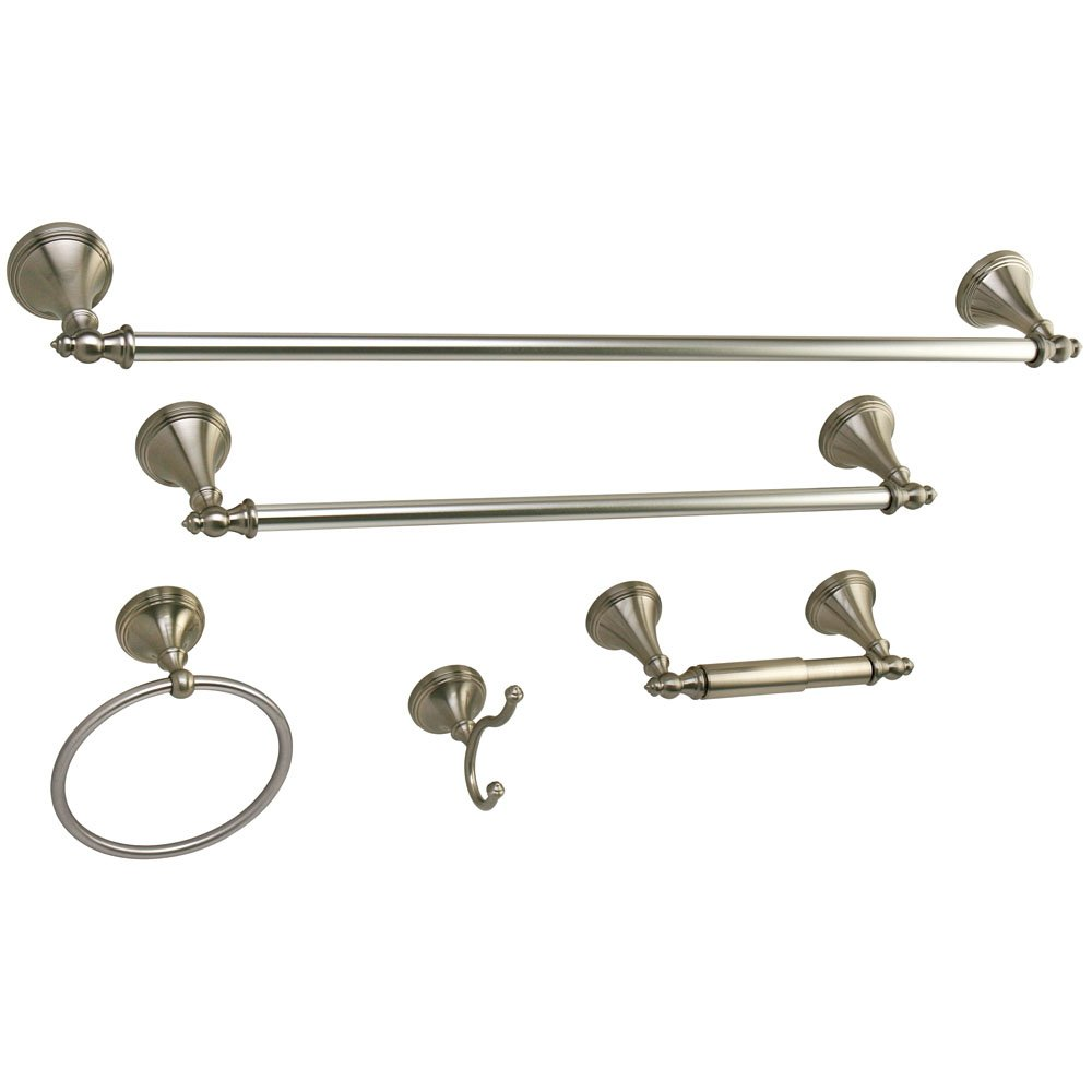 Kingston Brass Naples Towel Bar/Ring/Hook/Paper Holder, Satin Nickel best