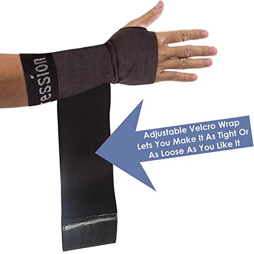 Copper Compression New Recovery Wrist Sleeve with Adjustable Wrap for Extra Support. Guaranteed Highest Copper Wrist Brace. Carpal Tunnel, RSI, Sprains, Workout (1 Sleeve Medium - Fits Either Hand) by Copper Compression (Image #3)
