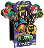 Geddes Boo Buddies Pencil with Giant Eraser Assortment - Set of 36