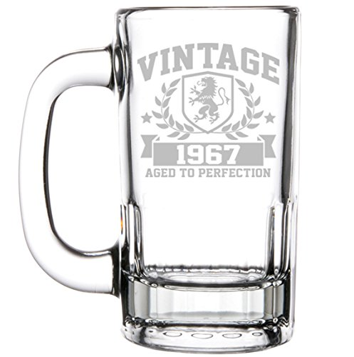 glass 50th birthday beer mug - 3