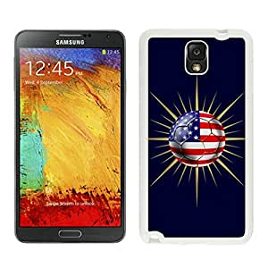Attractive Case USA Soccer 15 White Phone Case for Samsung Galaxy Note 3