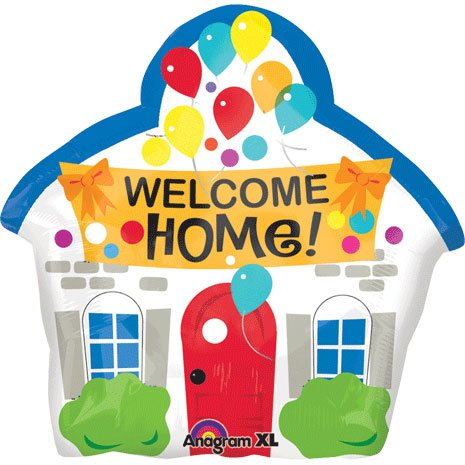 Welcome House Shaped Mylar Balloon product image