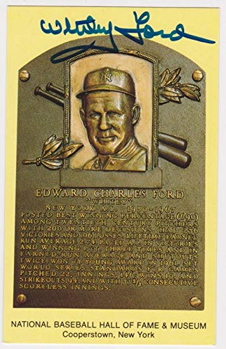 Whitey Ford Ny Yankees Signed Hall Of Fame Card Auto Autograph Postcard Cert - JSA Certified - MLB Cut Signatures from Sports Memorabilia