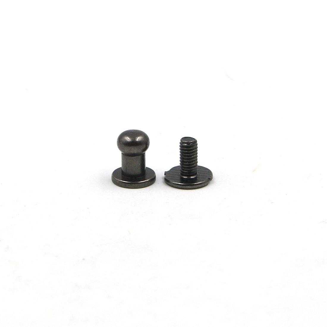5mm 6mm 8mm Screws Back Round Head Nail Rivet Bag Chicago Stud Copper Leather