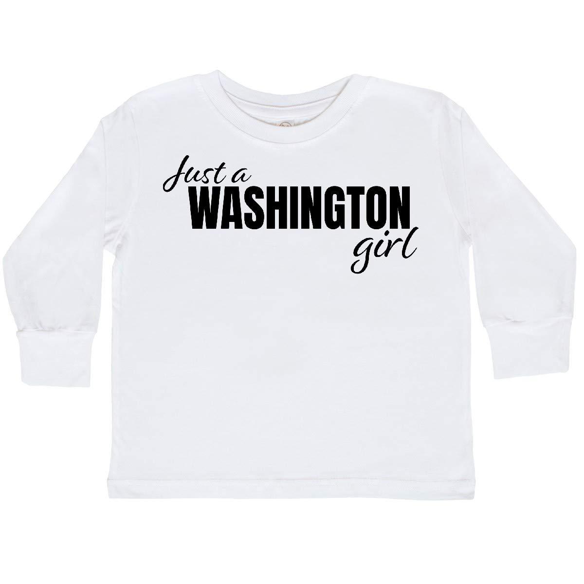 inktastic Just a Washington Girl Born and Raised Toddler Long Sleeve T-Shirt