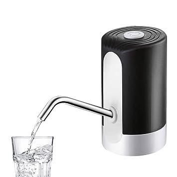 omufipw Bomba de agua potable dispensador eléctrico USB carga embotellado dispensador portátil botón dispensador: Amazon.es: Hogar