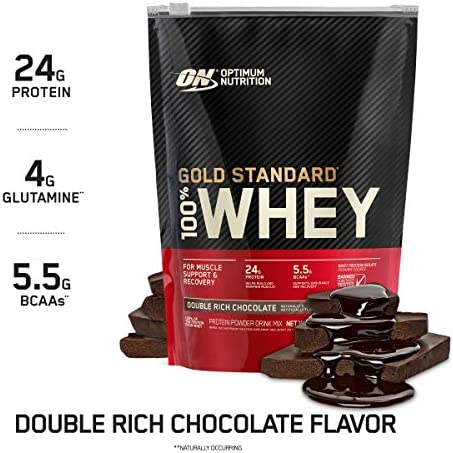 Optimum Nutrition Gold Standard 100 Whey Protein Powder, Double Rich Chocolate 1 Pound Packaging May Vary